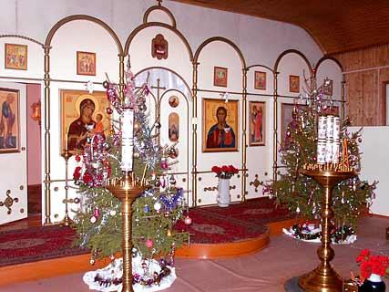 Убранство храма в Рождество