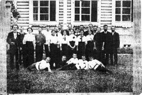 Хор церкви святого Александра Невского в Вербилках. Начало XX века.